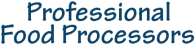 Professional Food Processor Logo